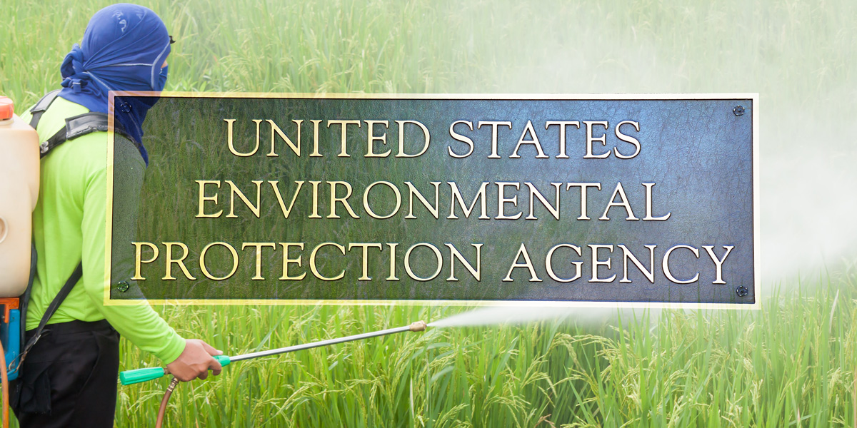 United States Environmental Protection Agency panel pesticide spraying