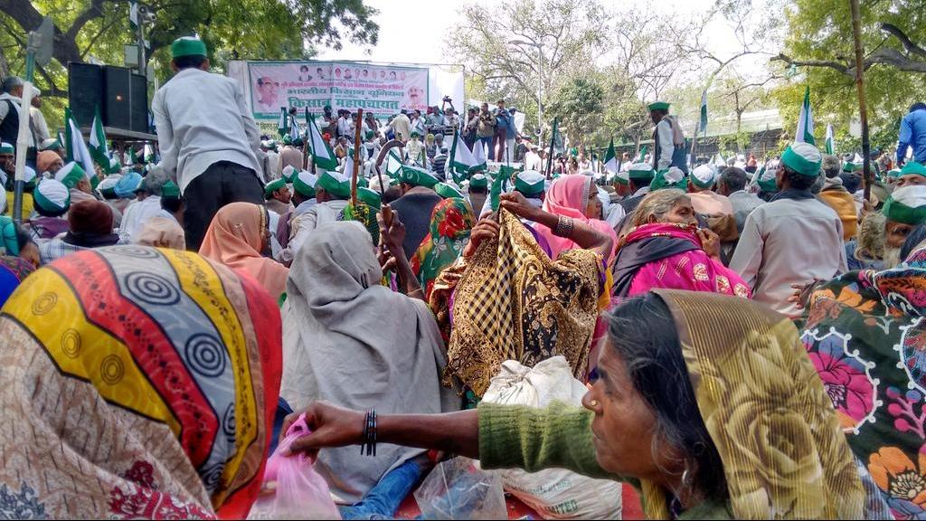 Indien - Landwirte bei der Anti-GVO-Demonstration