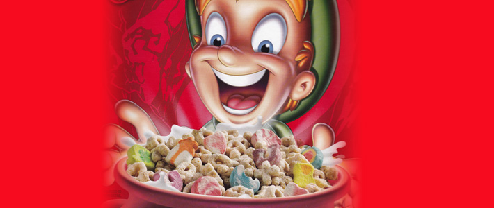Lucky charms on sale in Tescos