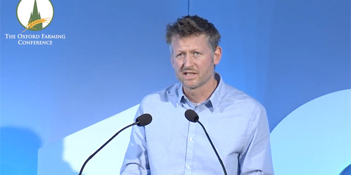 Mark Lynas speaking at the Oxford Farming Conference