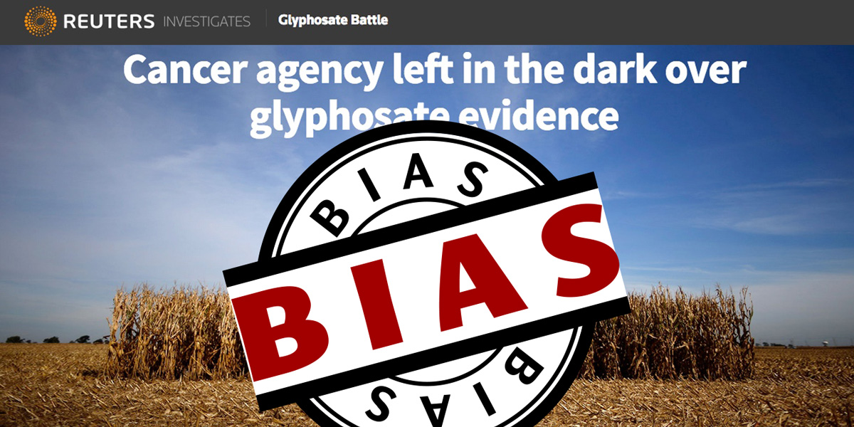 reuters cancer agency glyphosate evidence bias