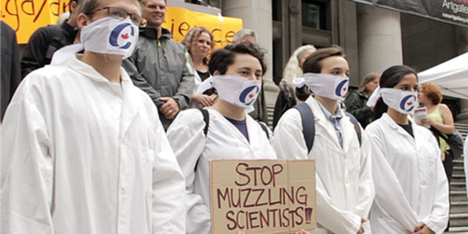 2013 protest in Vancouver against muzzling of scientists