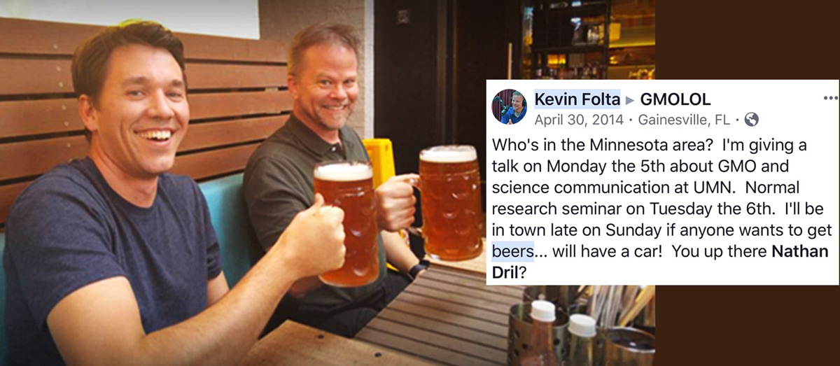 Beer with Dr Kevin Folta in Minnesota