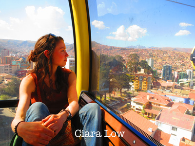 Ciara Low in cable car