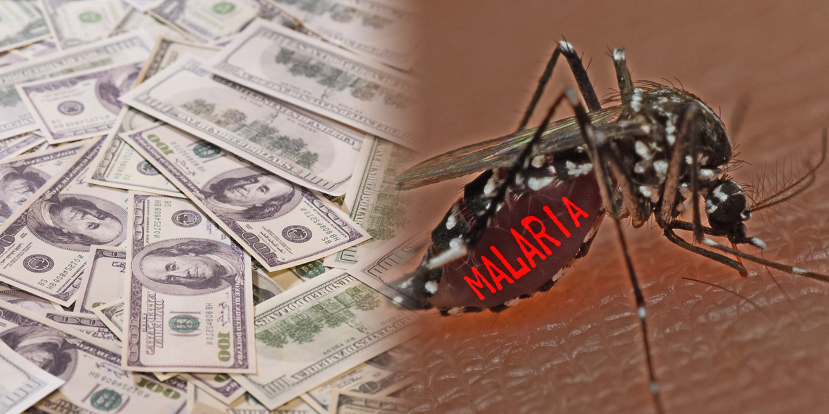Dollars and Malaria mosquito