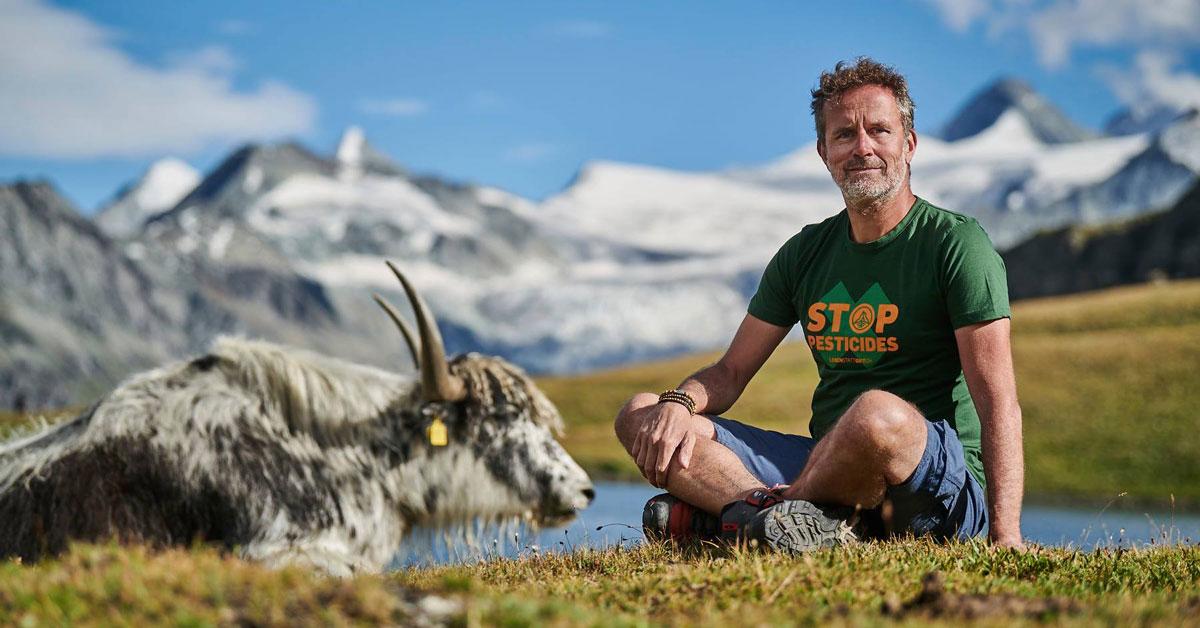 Farmer and hairy ox