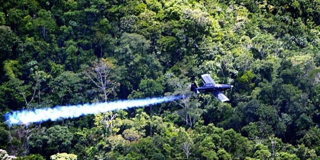 Glyphosate herbicide spraying of Coca in Colombia