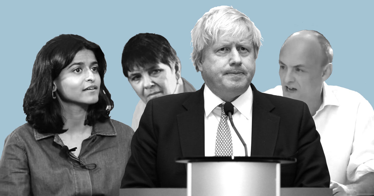 Munira Mirza, Clare Fox, Boris Johnson, Dominic Cummings