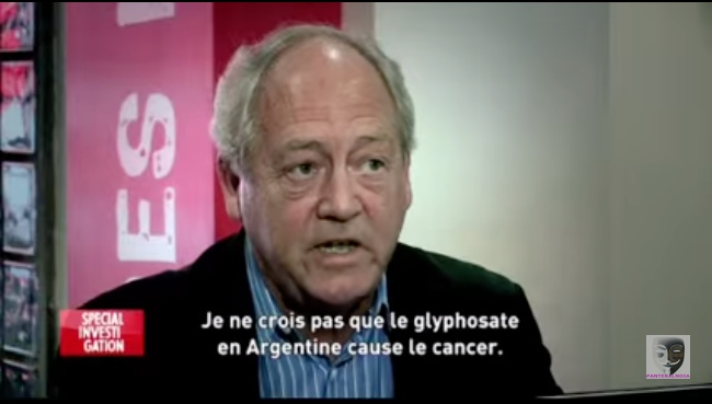 Patrick Moore and the glass of roundup