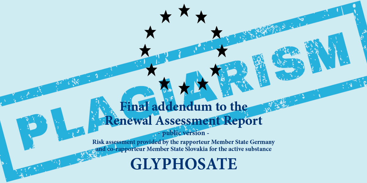 Plagiarism report on lyphosate BfR of Germany final addendum