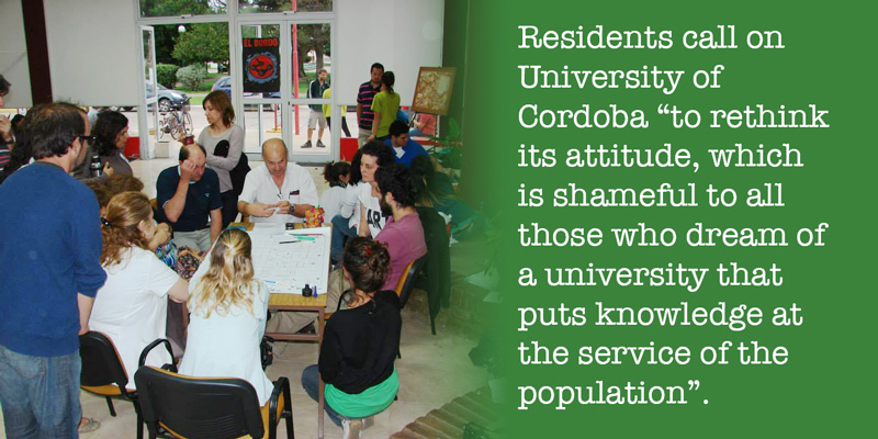 Residents call on University of Cordoba to rethink its attitude