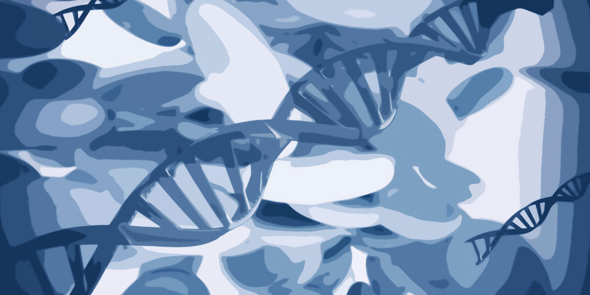 Synthetic DNA Gene Editing Abstract Illustration